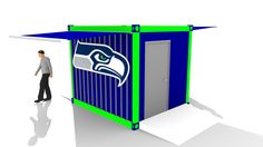 Hawk's BBQ Box for Nissan Pavilion at Century link Foodservice Area designed by LU Schildmeyer