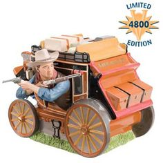 John Wayne Stagecoach Limited Edition of 4800 Cookie Jar made by Vandor