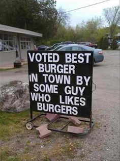 funny signs best burgers