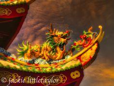 Guanau-Nabon Chinese Shrine Phuket Thailand  serpent