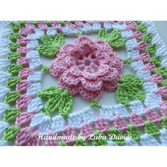 Flower in granny square Crochet pattern by Luba Davies | Crochet Patterns | LoveCrochet Flower Granny Square, Granny Square Blanket, Granny Squares, Fleur Crochet, Crochet Motif, Granny Square Crochet Pattern, Crochet Afgans, Crochet Blocks, Crochet Granny
