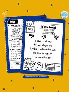 Check our best seller sight word passages! Link in the bio. These are perfect for struggling readers and ESL students in kindergarten and first grade to build confidence in their reading ability.  .  .  .  .  #teachingbiilfizzcend #teachingbiilfizzcendproducts #kindergarten #firstgrade #sightwords #teacherspayteachers #tpt #tptseller #tptteachers #iteachtoo #iteachfirst #teachersofig #teachersfollowteachers #iteachk #earlychildhood #earlychildhoodeducation Sight Word Readers, Sight Words, First Grade Writing, First Grade Math, Reading Passages, Reading Comprehension, Teaching Resources, Teaching Ideas, Fluency Practice