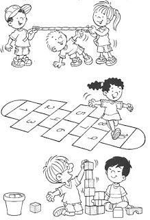 15 Brincadeiras De Criancas Para Imprimir E Colorir Com Imagens