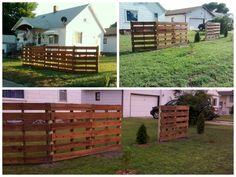 Pallets Fence #Garden, #PalletFence, #RecycledPallet