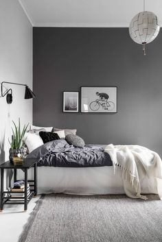 Whats more dont be deluded by the way that he originates from Scandinavia white insides are uncommon among his works. Funky Bedroom, Grey Bedroom Decor, Room Ideas Bedroom, Home Bedroom, Modern Bedroom, Bedroom Wall, Bedroom Furniture, Dark Gray Bedroom, Bedrooms