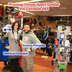 Professionalità, cortesia e simpatia ti attendono al Proshop del Forum Sport Center in Via Cornelia 493!