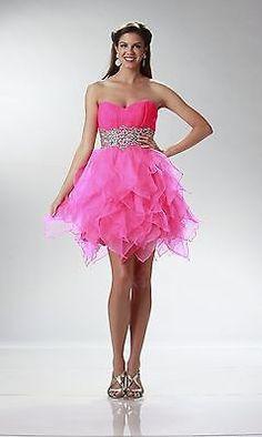 Homecoming Short Hot Pink Dress