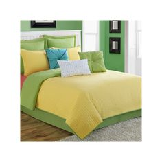 Fiesta Dash Reversible Quilt Set, Yellow