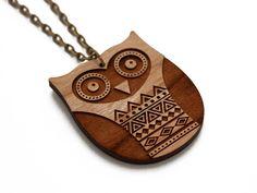 Aztec owl necklace