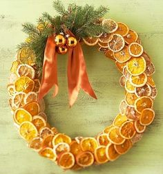 Gorgeous Orange Slice Wreath