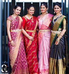 Pattu Saree Blouse Designs, Bridal Blouse Designs, Bridal Silk Saree, Saree Wedding, Wedding Wear, Saree Jewellery, Gold Jewellery, Jewelery, Silk Saree Kanchipuram