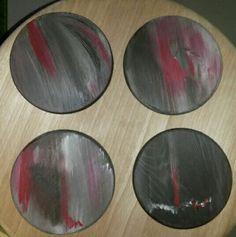 Dessous de verres peints à la main