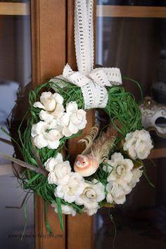 simple wreath    prosty wianek Floral Wreath, Wreaths, Simple, Diy, Home Decor, Floral Crown, Decoration Home, Door Wreaths, Bricolage