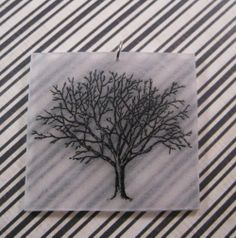 Lone tree in winter illustration charm by MoiraCoon on Etsy, $5.00