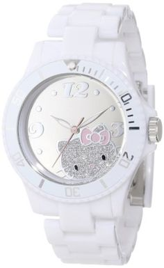 Hello Kitty Women's H3WL1047WT Plastic Case Link Bracelet Sport Bezel Mirror Dial Watch Hello Kitty, MEN'S AND WOMEN'S WATCHES to buy just click on amazon right here http://www.amazon.com/dp/B00A3M2CK6/ref=cm_sw_r_pi_dp_gf8Jsb1BARX1S6BA