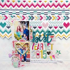 Cross-Stitching Layout #1 (and Process Video!) for Scrapbook Expo