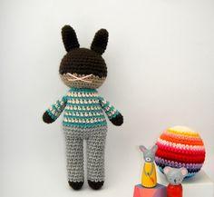rabbit boy toy children bunny crochet amigurumi plushie .. little dewitt