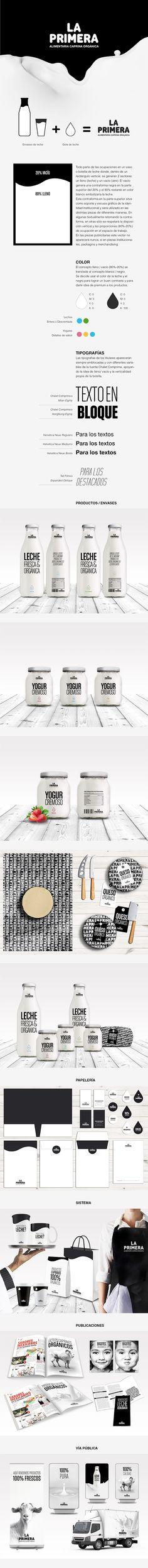 Proyecto de realización de la identidad institucional de La Primera, marca de productos orgánicos de primera calidad.