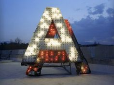"""We need a big """"T"""" for #Turbine ! Love the #lights"""