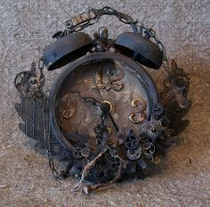 annes papercreations: Tim Holtz Steampunk altered Assemblage clock