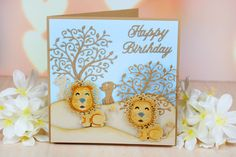 How to Make a Tattered Lace Lion Card #TatteredLace #Card #Papercraft