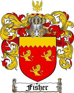 FISHER FAMILY CREST - COAT OF ARMS gifts at www.4crests.com