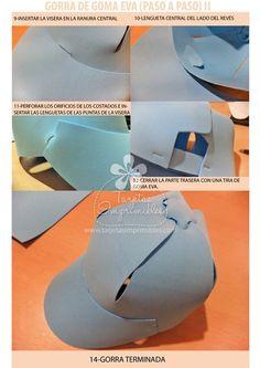 Sombreros o gorras de goma eva paso a paso y moldes ...