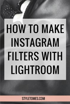 How To Create Custom Photo Filters: Lightroom Presets Tutorial I get SO many questions about my photo toning and what filters I use on Instagram. The short answer is I don't use any apps to apply filters. My filters of choice are Lightroom presets that I've carefully experimented with and developed over some span of time.  This is how I make the custom Lightroom presets. http://styletomes.com/blogging-tips/lightroom-presets-tutorial/?utm_campaign=coschedule&utm_source=pinterest&amp...