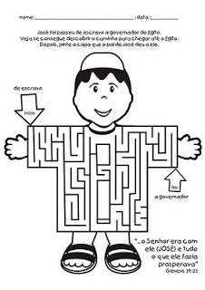 Joseph's coat  maze.  JOSÉ DO EGITO - ATIVIDADES | ´¯`··._.·Blog da Tia Alê