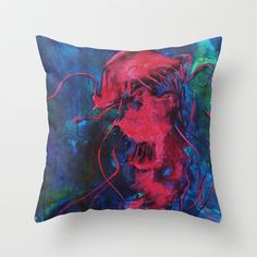 Jellyfish Throw Pillow by brittbolduc - $20.00