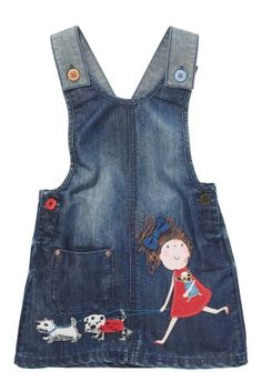 Buy Character Girl Denim Pinafore Dress from the Next UK online shop For the Dog & Dolly lover!cute denim dress with doggys Toddler Fashion, Toddler Outfits, Kids Outfits, Kids Fashion, Denim Pinafore, Pinafore Dress, Party Dresses For Women, Little Girl Dresses, Girl Dress Patterns