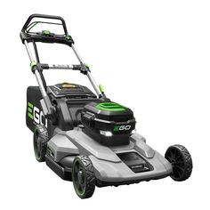 EGO 21 in. Lithium-ion Cordless Walk Behind Self Propelled Mower Kit – Ah Battery/Charger – The Home Depot - Lawn Ideen Push Lawn Mower, Lawn Mower Tractor, Battery Powered Lawn Mower, Home Depot, Cordless Lawn Mower, Self Propelled Mower, Garden Gadgets, Riding Lawn Mowers, Outdoor Ceiling Fans