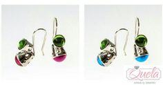 Pendientes de plata,ideales para esta primavera-verano.http://www.quelajoyas.com/colecciones/