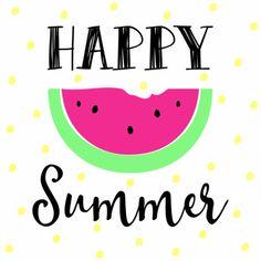 Happy Summer - Kaartje, verkrijgbaar bij #kaartje2go