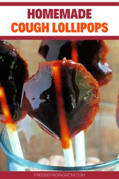 One of the worst moments of parenthood is seeing your child sick (coughing, wheezing, sore throat) and not being able to fix it right away. An all-natural remedy to help soothe a cough or sore throat are these Honey Flavored Homemade Cough Lollipops. This easy recipe takes just 8 steps to make and they are perfect for both kids and adults. #coughrememdiesforadults #coughremediesforkids #sorethroatreliefinstant #sorethroatremediesforadults Low Calorie Desserts, Low Calorie Recipes, Gluten Free Desserts, Diabetic Recipes, Snack Recipes, Free Recipes, Sore Throat Remedies For Adults, Cough Remedies For Kids, Kid Friendly Dinner