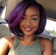 Photo brown skin purple hair in braids hairstyles 12 Images 10 Prettiest Hair Color Trends in 2020 – HairstyleCamp Black Women Hairstyles, Hairstyles With Bangs, Girl Hairstyles, Fringe Hairstyles, Wedding Hairstyles, Short Haircuts, Hairstyles 2016, Popular Haircuts, African Hairstyles
