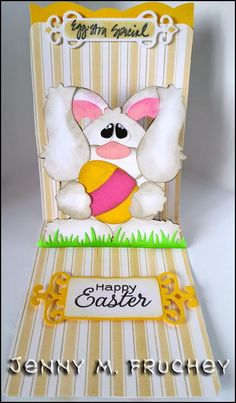 Easter, pop up, die cut, silhouette, cricut, paper, card, Karen Burniston, Sizzix, tags, egg, bunny
