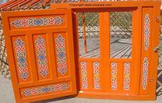 Mongolian yurt door.