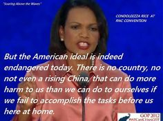 Condoleezza knocked it out of the park last night at the RNC... calling out the problems we currently face as a nation!