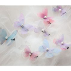butterfly hair clip hairpin manual decoration bridal handcraft... ($18) ❤ liked on Polyvore featuring accessories, hair accessories, bride hair accessories, bridal hair pins, butterfly hair clips, butterfly hair pins and pearl hair accessories