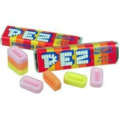 Not so tasty, but facinating somehow. Difficult to add into Pez toy. Also good as a barbie's soap