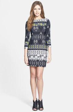 BCBGMAXAZRIA 'Calico' Print Sheath Dress (Regular & Petite) available at #Nordstrom