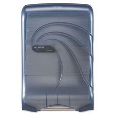 San Jamar ULetterafold Multifold/C-Fold Towel Dispenser Oceans 11 3/4 x 6 1/4 x 18