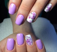 April nails, April nails 2016, Beautiful summer nails, flower nail art, Flower nails, Fresh nails, Medium nails, Middle nails