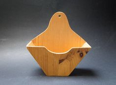 Vintage wooden coffee filter holder Handmade Filter container