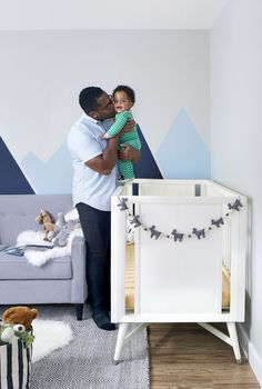 Twin boy nursery space