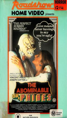 "weekend-reanimator: "" Bizarro VHS box art for THE ABOMINABLE DR. PHIBES. """