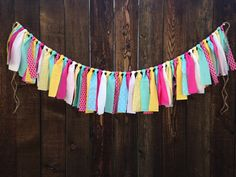 You Are My Sunshine Birthday Fabric Garland Decoration - Lemonade Stand - Hot Pink - Aqua - Yellow - Pink Lemonade - First Birthday -