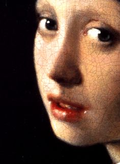 Johannes Vermeer,Girl with a Pearl Earring (detail), ca. 1665
