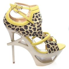 Jerrica06A Gladiator Cut Out Architectural High Stiletto Heel Women Shoes